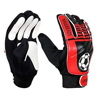 ARSUK® Goalkeeper Gloves, Junior Goalkeeper Gloves Stronge Grip for the Toughest Saves and Finger Protection (Liverpool Gloves)