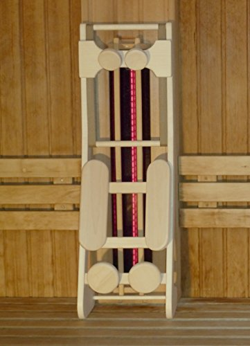 Sauna-Rückenlehne ergonomisch mit Kopfstütze, Espe naturbelassen