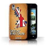 Carcasa/Funda STUFF4 dura para el LG Optimus Black P970 / serie: Naciones bandera - Gran bretaña