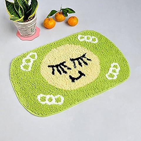 stuoie assorbenti igienici acqua/Ottomani/tappetini da bagno antiscivolo/Tappeti camera da letto-C (Avorio In Pelle Ottomana)