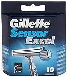 Lot de 10cartouches pour rasoir Gillette Sensor Excel
