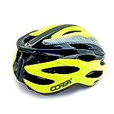 Professione casco della bici, Sport regolabile in bicicletta casco della bici caschi da bicicletta per strada e mountain bike, moto per gli uomini adulti e donne, della gioventù - corse, protezione e sicurezza ( Color : Yellow )
