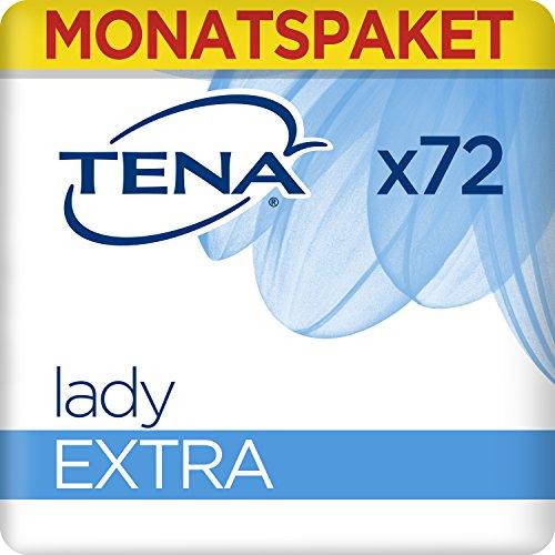 Tena Lady Extra, Monats-Paket mit 72 Einlagen (6 Packungen je 12 Einlagen)