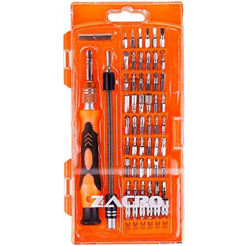 Zacro Schraubendreher Set 58 in 1 mit 54 Bits Magnetische Schraubenzieher Set für elektronische Kleingeräte Handy, Tablet, PC, Macbook, Uhr etc.