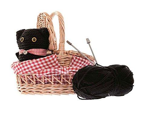 Egmont Toys Kit de Tricot Chat dans Un Panier en Osier