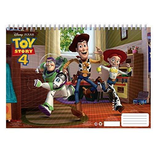GUIZMAX Cahier de Dessin Toy Story Livre de coloriage Stickers Regle Pochoir Album