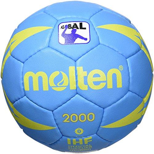 Molten 2000 - Balón de balonmano, color azul/amarillo, talla 0