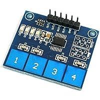 kcopo TTP2244Canal Digital Tocar Sensor Módulo capacitiva Tocar Interruptor Botón Sensor Módulo digital humano Single Chip para Arduino