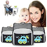 Diaper Bag Backpack - Multi-Function Maternity Nappy Bags For Travel Portable Foldable Travel Booster Baby Seat Dining Chair (Diaper Bag 1)