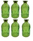 Bottiglia Decorativa Flacone Di Vetro 6 Pezzi Barattolo-sughero Vasetti Di Cork Decorazione Farmacia Bottiglia Bottiglia Liquore Vetro Da Farmacia Vintage Bicchieri - verde, 5 pezzi