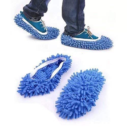 TM Multifunktionsstaub Reinigung Boden MOP Pantoffeln sauberere Schuhe für Haus-Büro Küche Bad Schlafzimmer blau - Schlafzimmer-akzent-kissen