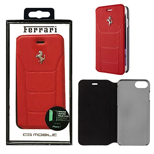 ferrari-electronic-ferrari-488plata-feseflbkp7re-funda-de-piel-book-cover-carcasa-apple-iphone-7-roj
