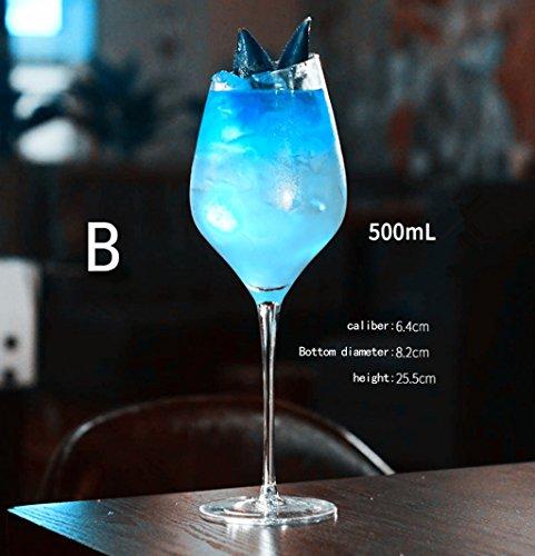 A-RQ Weinglas Rotwein Glas Weißwein Glas Sektglas Schief Mund Mund Bleifrei Kristallglas 24er Pack