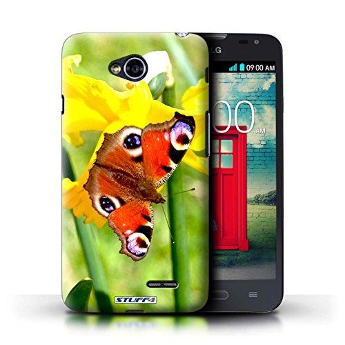 Kobalt® Imprimé Etui / Coque pour LG L70/D320 / Clair Rose conception / Série floral Fleurs Papillon