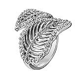 Julie Julsen Damen-Ring 925 Silber Zirkonia Weiß Ringgröße Verstellbar - JJRG10390.1