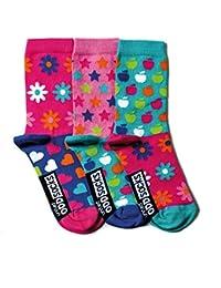 Verrückte Socken Oddsocks Apples für Mädchen im 3er Set