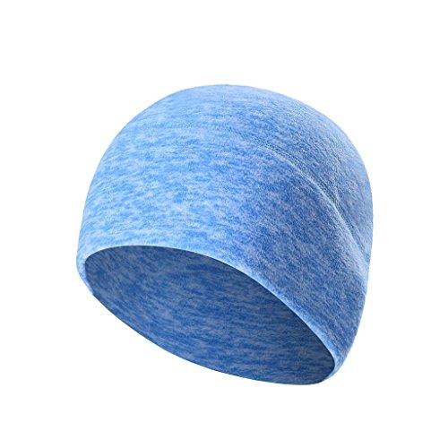 Arcweg Microfleece Beanie Atmungsaktivem Skimütze Winter Outdoor Mütze 9 Reine Farbe Hellblau