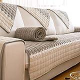 YJRH Velours côtelé Salon Couverture de canapé d'angle Tissu Housses de canapé...