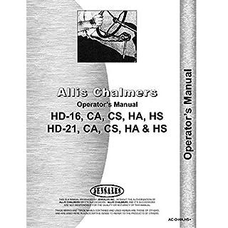 Allis Chalmers HD16 Crawler Operators Manual