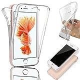 Coque pour iPhone 6 / 6S, SAVFY Coque Silicone Gel Intégral - Transparent