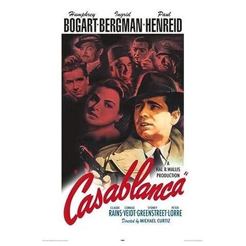 Casablanca Promo Bogart Laminiertes Film Poster