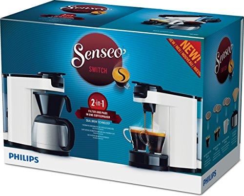 Senseo HD7892/00 Switch 2-in-1 Kaffeemaschine für Filter und Pads,Weiß - 7