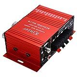 Mengonee Kentiger MA170 2-Kanal-Hallo-Fi Stereo-Verstärker-Motorrad-Auto DC12V Minidigital-Lautsprecher DVD MP3 Booster