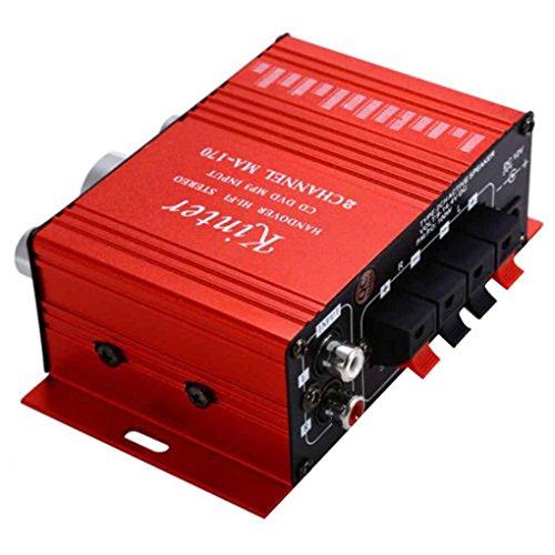 Mengonee MA170 2-Kanal-Hallo-Fi Stereo-Verstärker-Motorrad-Auto DC12V Minidigital-Lautsprecher DVD MP3 Booster