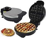 LIANYANG Macchina per ferro da stiro elettrica per muffin,macchina per muffin Controllo della temperatura regolabile antiaderente con rivestimento antiaderente(colore:bianco,dimensioni:12x25x22 cm(5x1