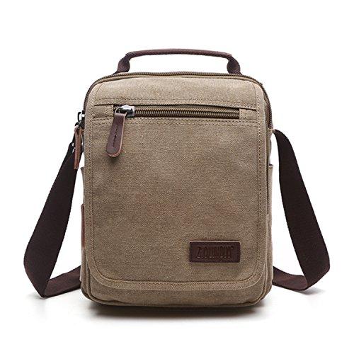Outreo Borse a Spalla Borsetta Tracolla Uomo Vintage Messenger Bag Sport  Borsa Scuola Borsello Tela Sacchetto ... 698f86940cc
