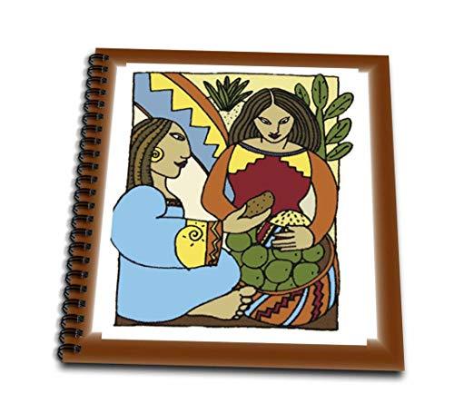 3drose DB _ 62445_ 2Malerei von mexikanischen Frauen Kubismus style-memory Buch, 12von 30,5cm