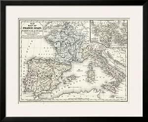 Cartina Italia Francia Spagna.Artus Mitchell Cartina Della Francia Spagna Italia E
