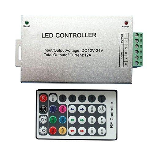 XZANTE RF Funkfernbedienung 28 Tasten 12-24V 3 Kanal LED Regler fuer RGB LED Streifen - 1.7 Unzen-glas