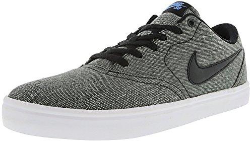 Nike Herren Skateboardschuh Check Solarsoft Canvas Schwarz (Black-White-Pht)