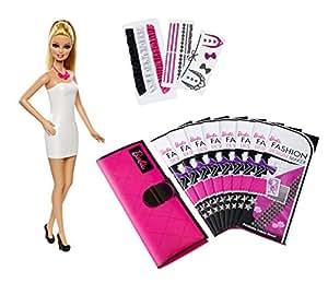 Barbie – Atelier de Mode – Poupée Mannequin 29 cm + Tissu Imprimable