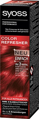 Syoss Color Refresher Haarfarbe, Rotnuancen, 3er Pack (3 x 75 ml) -