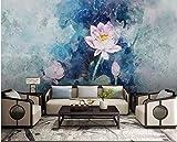 BHXINGMU Wandbild Fototapete Abstrakter Heller Lotos Kunsttapete Große Schlafzimmerwanddekoration 250Cm(H)×360Cm(W)