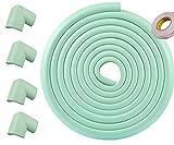 Refosian Coussin de sécurité et coussinet de sécurité -17,8 pi [16,4 pi Edge + 4 coins] Protection pour enfants Sécurité à domicile Casier de pare-chocs et protecteur de bord de table