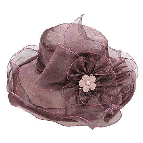 VWTTV Frauen Casual Flower Basin Cap Big Folding Strand Sonnenhut Blank Trucker Hats