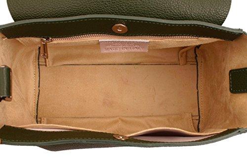 Original MarcoVENEZIA, Echtleder-Damenhandtasche, Schultertasche, ELARA Taupe