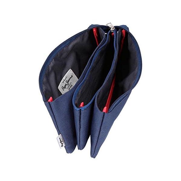 Pepe Jeans Cross Estuche tres compartimentos, color Azul