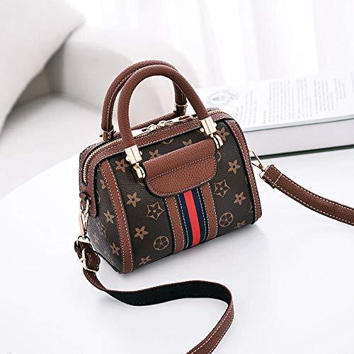 Fyyzg Europa und den Vereinigten Staaten Damenhandtaschen Mode lässig Damentasche Schulter Diagonale Paket - Sterne braun