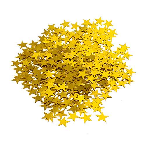 Oblique Unique® Stern Konfetti Geburtstag Jubiläum Hochzeit Feier Party Gold Tisch Deko Weihnachten Sterne Streudeko 14g (Gold-konfetti Sterne)