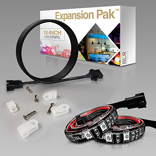 2pc-expansion-pack-multi-color-rgb-led-strip-expansion-kit-12-inch-pre-cut-accent-light-strips-for-t