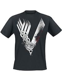 Vikings Logo T-shirt noir L