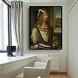 Ritratto Dipinto ad Olio Poster e Stampa su Tela Foto murale di Soggiorno Nordico Senza Cornice 50x70cm