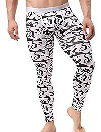 Ouneed® Homme Polyester Thermique Legging Imprime Sous Vetement Tight Pant Underwear