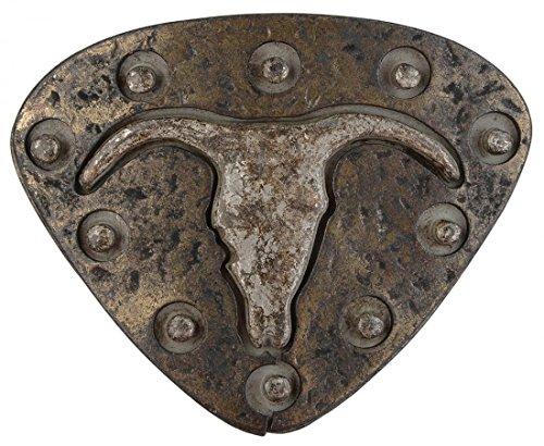 Gürtelschnalle mit Relief - Stierschädel in Umrissen - Wechselschliesse in edlem Design als besonderes Geschenk