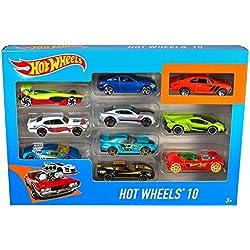 Hot Wheels - Pack de 10 vehículos (Mattel 54886)