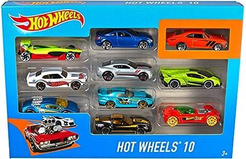 Hot Wheels - 54886 - Véhicule Miniature - Coffret 10 Voitures - Modèles Aléatoires